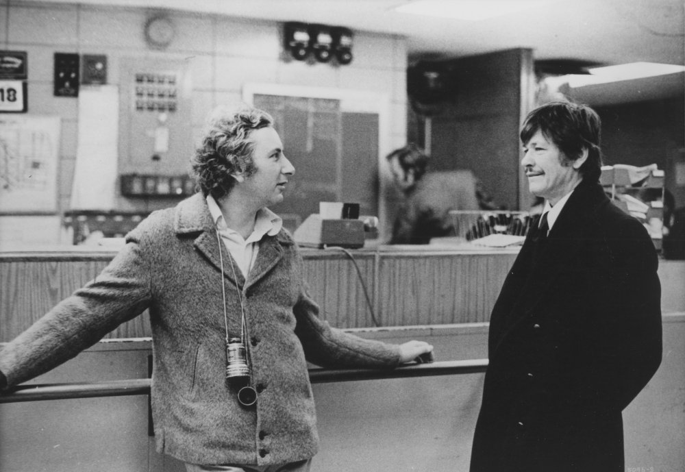 Michael Winner on the set of Death Wish (1974) with Charles Bronson