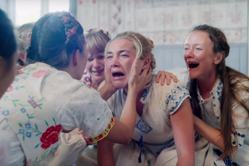 Florence Pugh as Dani (centre) in Midsommar