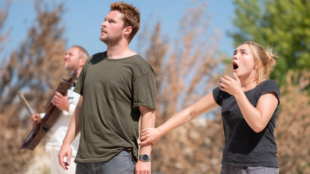 Jack Reynor as Christian (centre) with Pugh
