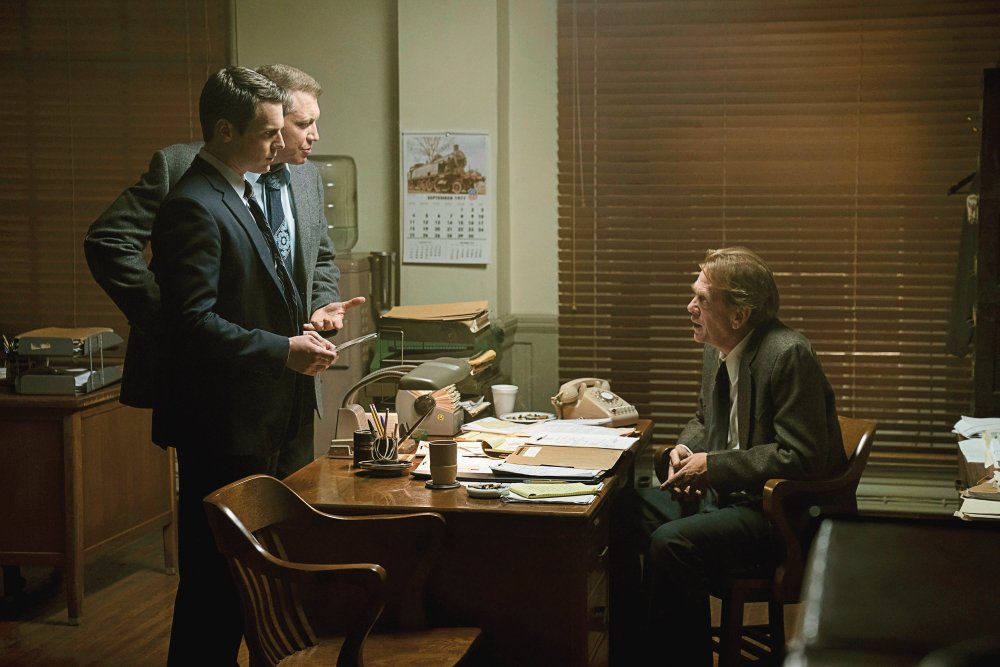 Jonathan Groff, Holt McCallany and Cotter Smith in David Fincher's Netflix detective series Mindhunter