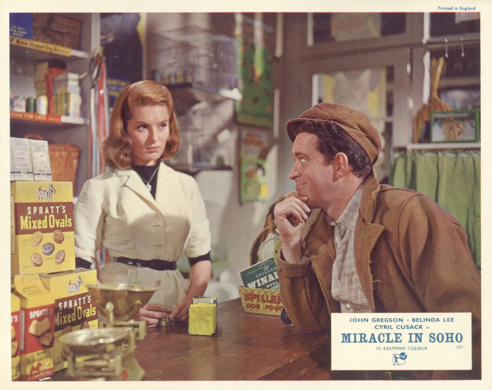 Miracle in Soho (1957) lobby card