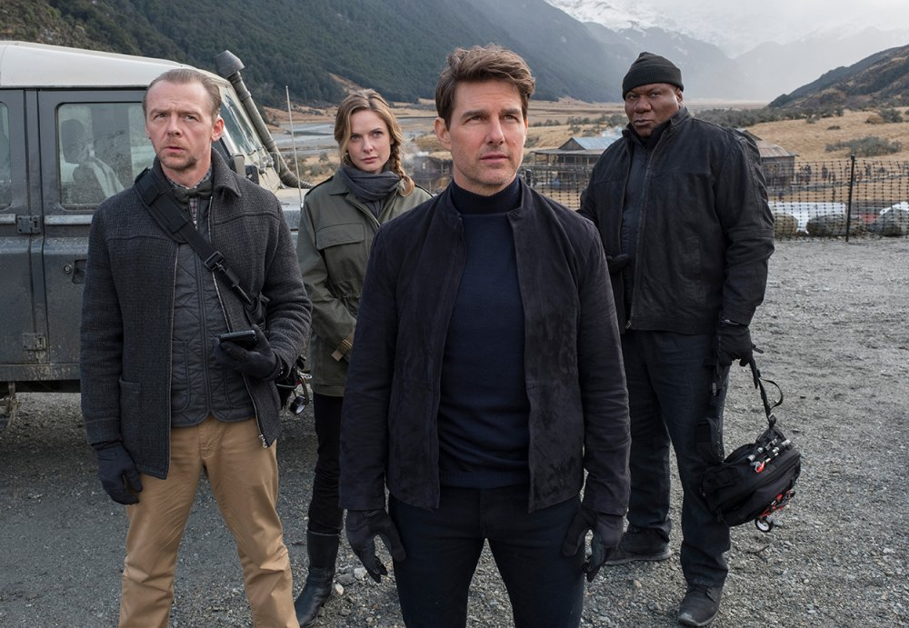 Simon Pegg, Rebecca Ferguson, Cruise and Ving Rhames in Mission: Impossible Fallout