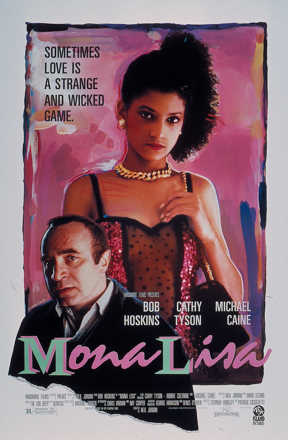 The original 1986 poster for Mona Lisa