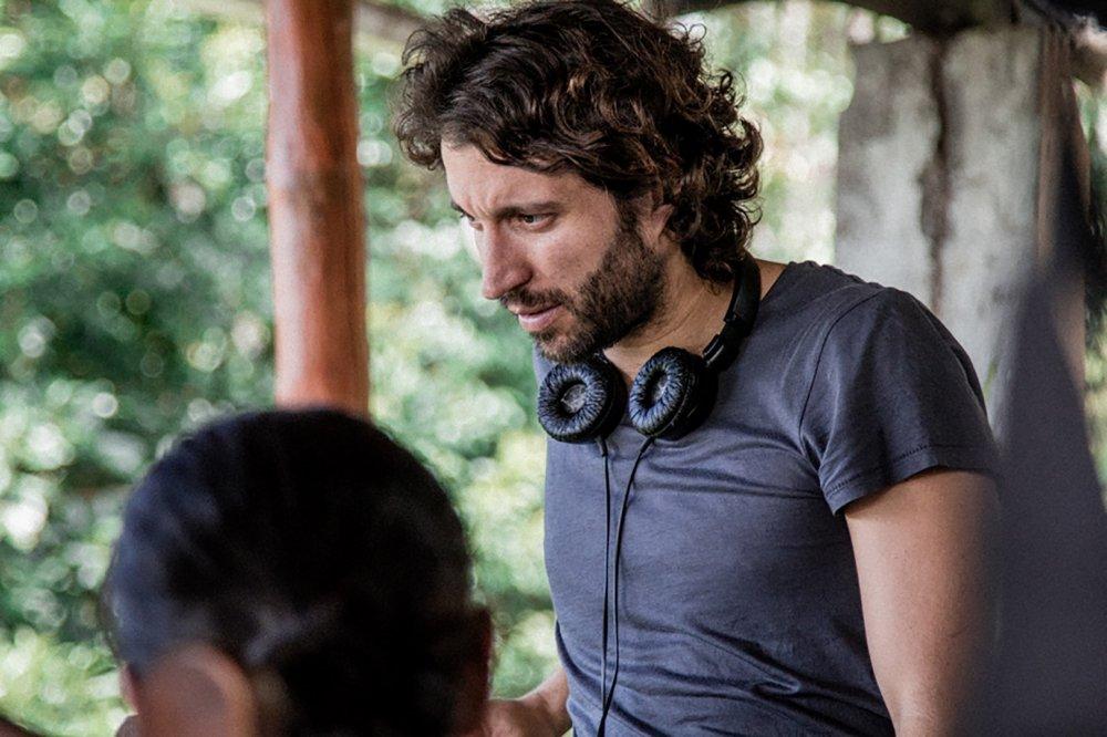 Alejandro Landes on the set of Monos (2019)