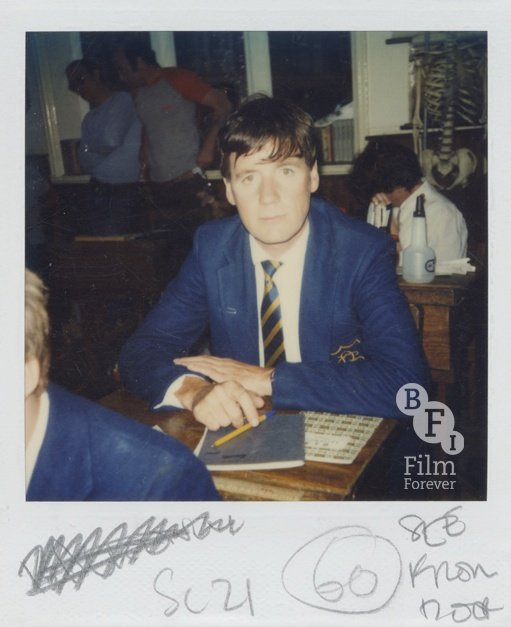 Polaroid from the filming of Monty Python's The Meaning of Life (1983)