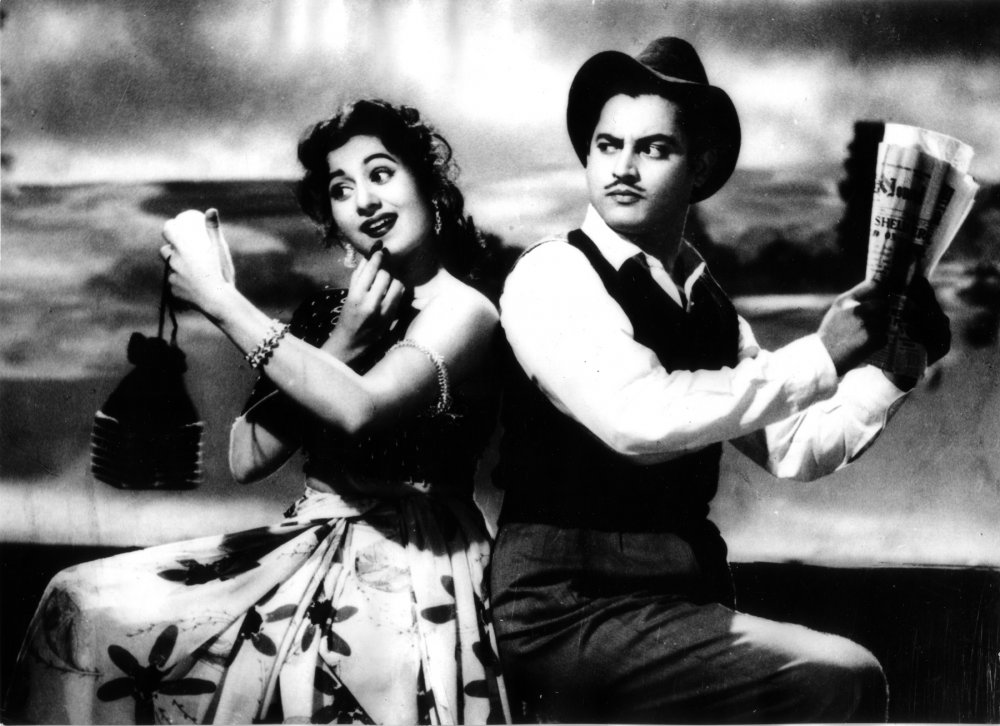 Guru Dutt and Madhubala in Mr & Mrs '55 (1955)