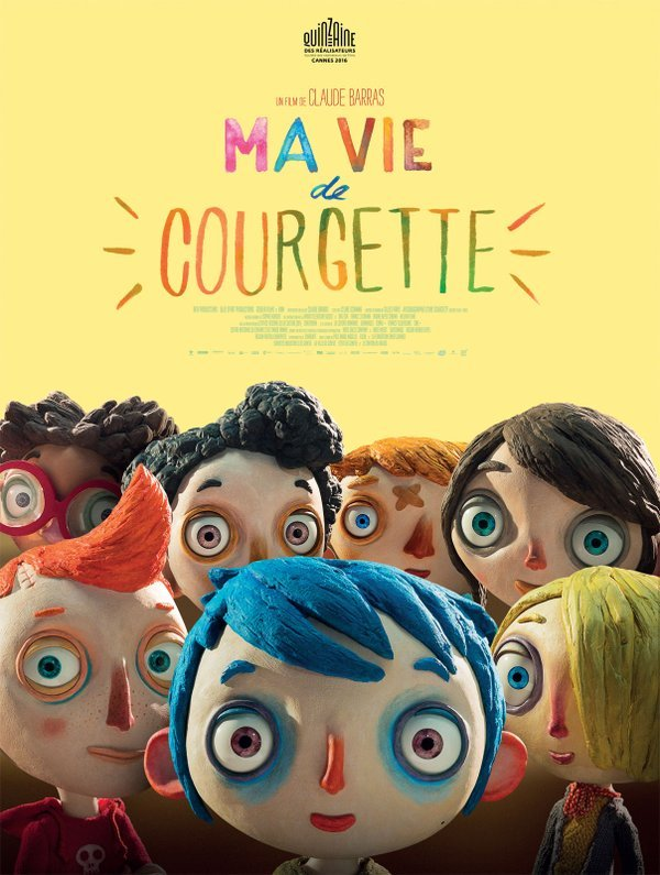 The festival poster for Claude Barras's My Life as a Courgette (2016)