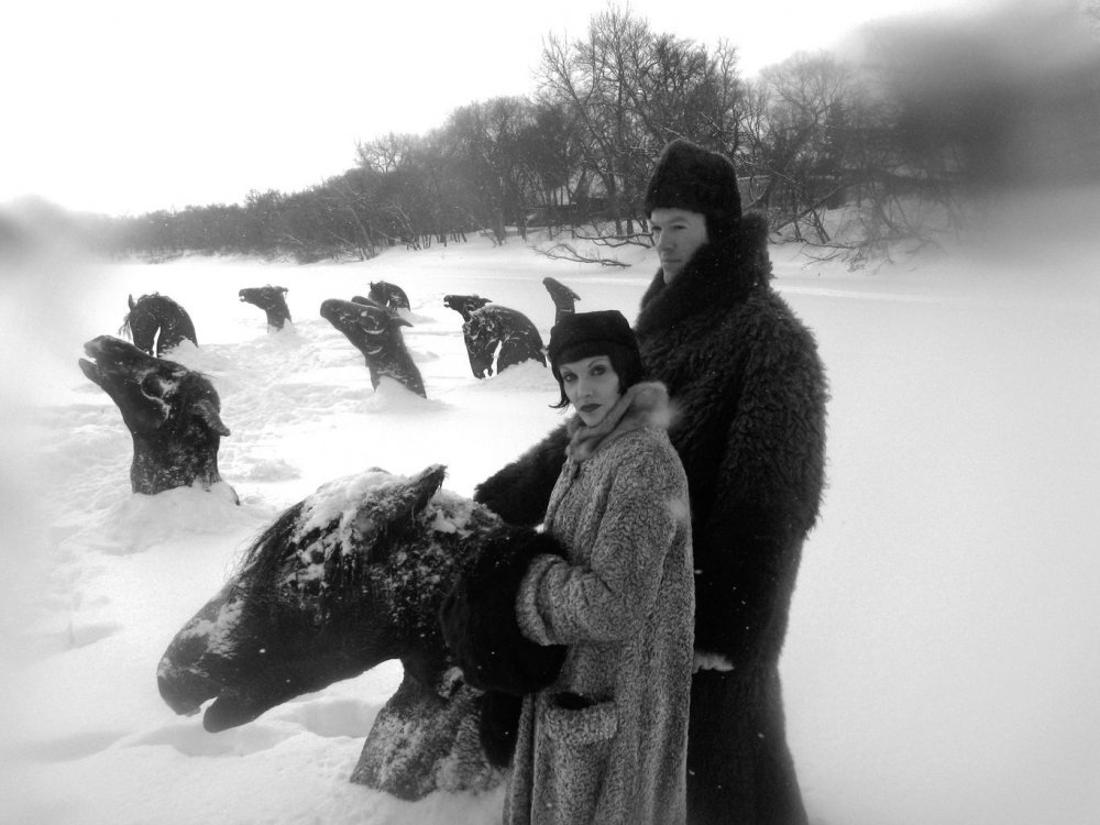 From the muff up, this haunting moment in Guy Maddin's snowbound autobiographical fantasia My Winnipeg (2007) might contain the snuggest outfits on film – we only hope that's faux fur