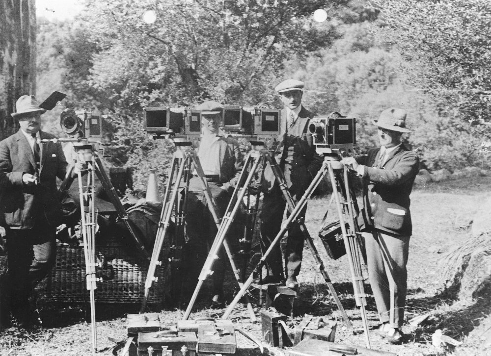 Filming a scene with multiple cameras