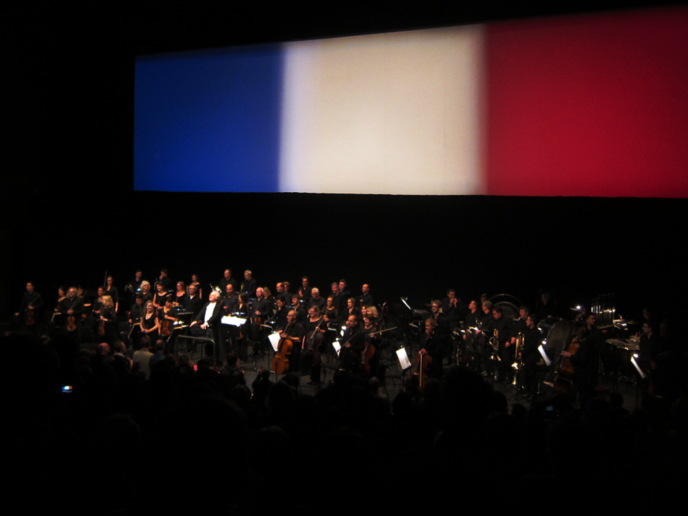 Carl Davis and the Philharmonia receive a standing ovation at the climax of 5½ hours of film magic