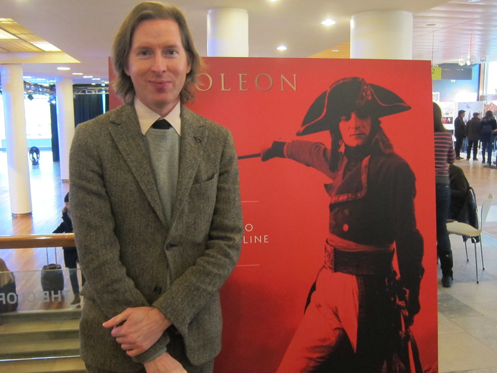 Director Wes Anderson joins the sellout crowd