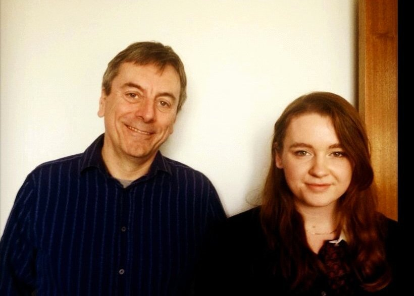 Nick James with Lydia Poulteney, the winner of our Young Journalist Competition in the 15-18 category.