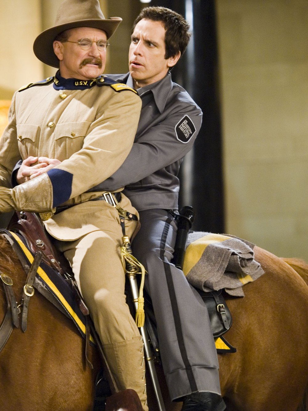 With Ben Stiller in the blockbuster fantasy A Night at the Museum (2006)