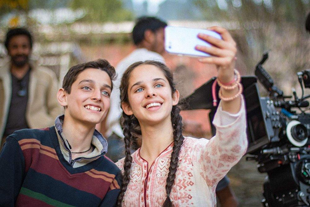 Zara Webb as Noor and Shivam Rania as Majid in No Fathers in Kashmir