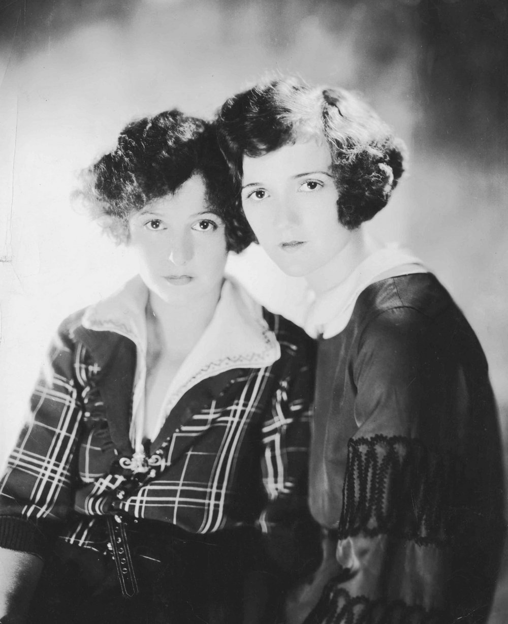 Norma Talmadge and Constance Talmadge, American-born film actress and producer; film actress. Photographed by James Abbe.