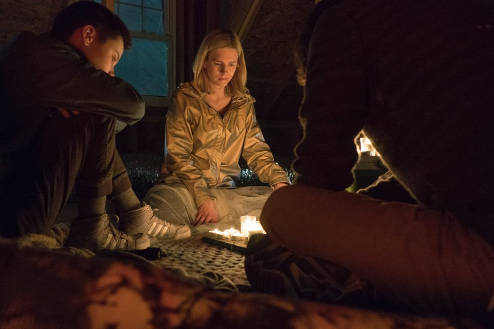 Prairie teaches her movements to a group of would-be rescuers in The OA