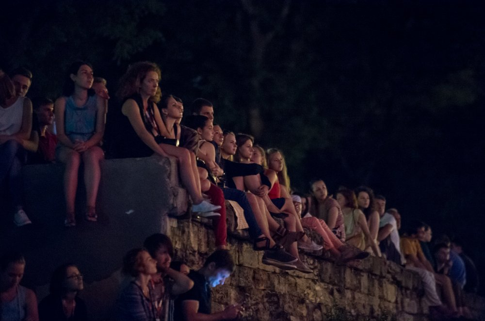 Young audiences at the Blackmail screening at the 2014 Odessa International Film Festival