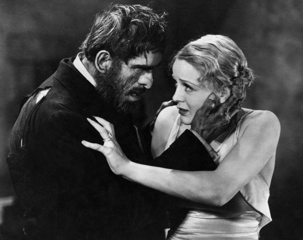 Beauty and the beast… Boris Karloff as Morgan and Gloria Stuart as Margaret in The Old Dark House