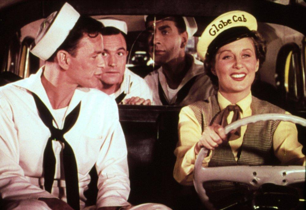 Frank Sinatra, Gene Kelly, Jules Munshin and Betty Garrett in On the Town (1949)