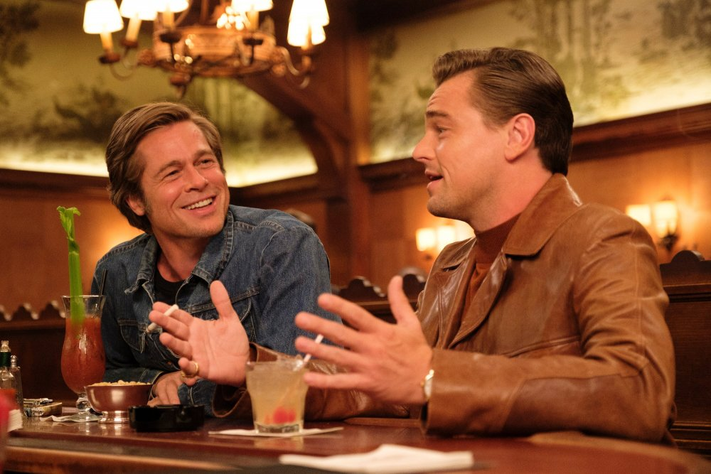 Brad Pitt as Cliff Booth and Leonardo DiCaprio as Rick Dalton in Once Upon a Time in… Hollywood