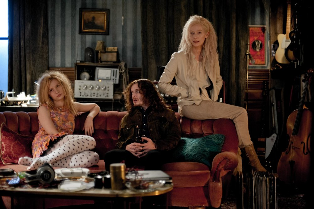 With Mia Wasikowska and Tilda Swinton in Jim Jarmusch's vampire lounge drama Only Lovers Left Alive (2013)