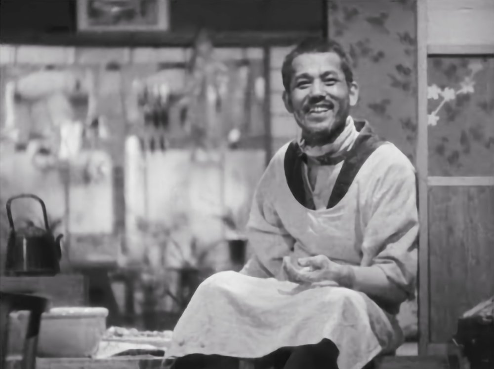 Ryu Chishu in Ozu's 1936 film The Only Son (1936)
