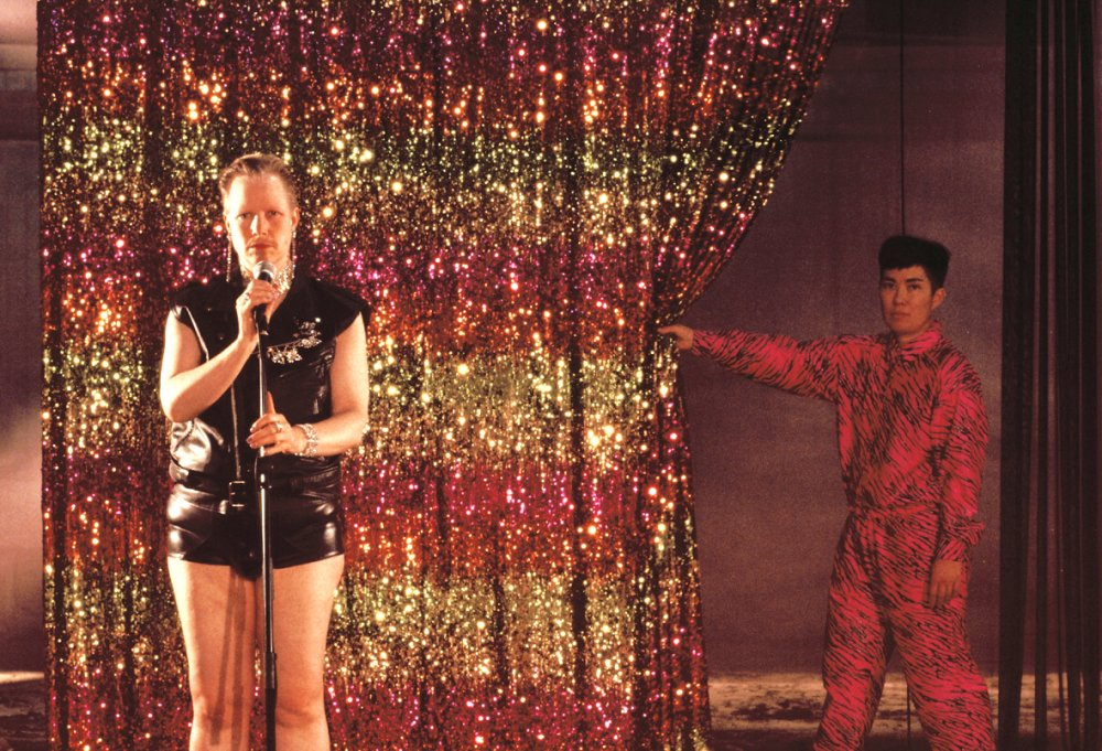 Werner Hirsch (left) and Ginger Brooks Takahashi in Renate Lorenz and Pauline Boudry's installation film Opaque