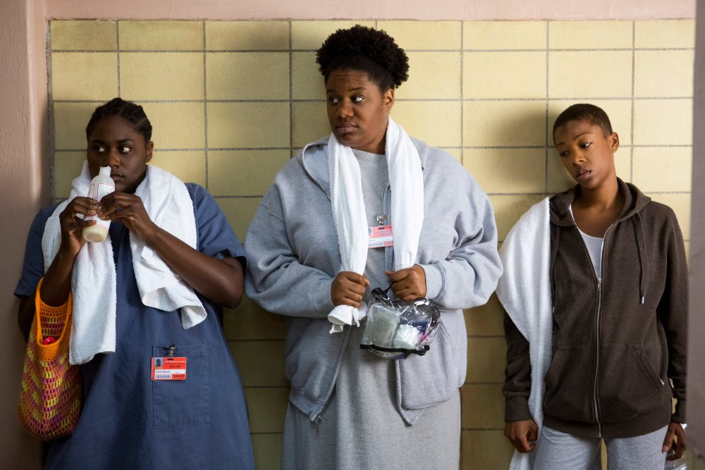Taystee (Danielle Brooks), Cindy and Poussey (Samira Wiley)