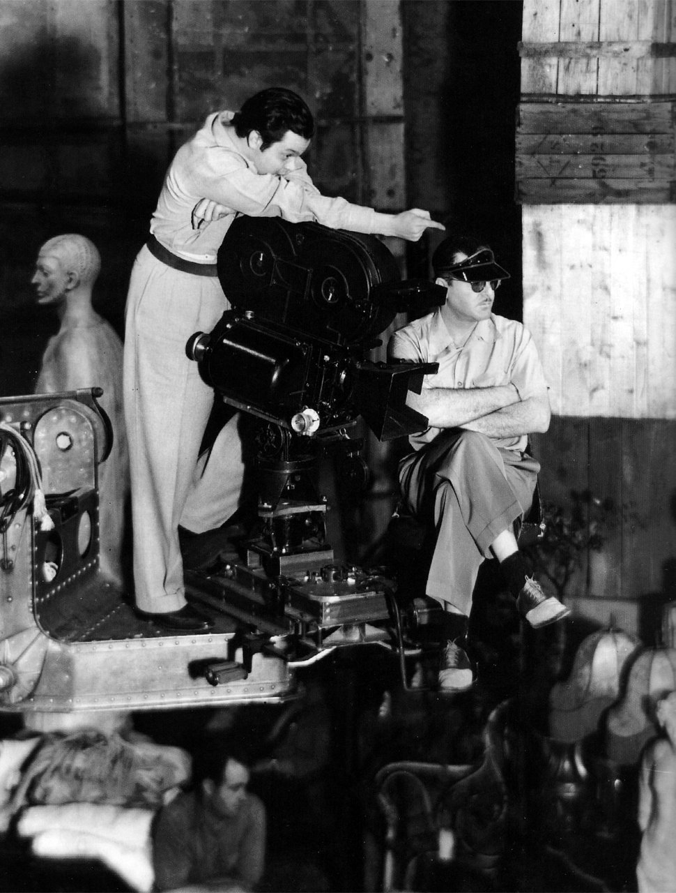 Welles during production of Citizen Kane (1941)