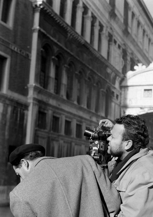 Welles on location for Othello (1952)
