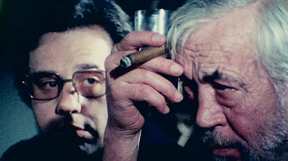Peter Bogdanovich as Brooks Otterlake and John Huston as Jake Hannaford