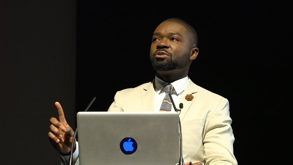 David Oyelowo delivering the keynote address at the London Film Festival's Black Star symposium, 6 October 2016