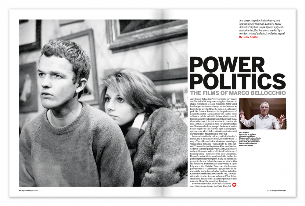 Power Politics: The Films of Marco Bellochio