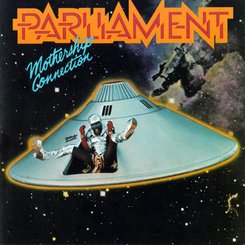 The cover of Parliament's 1975 album Mothership Connection