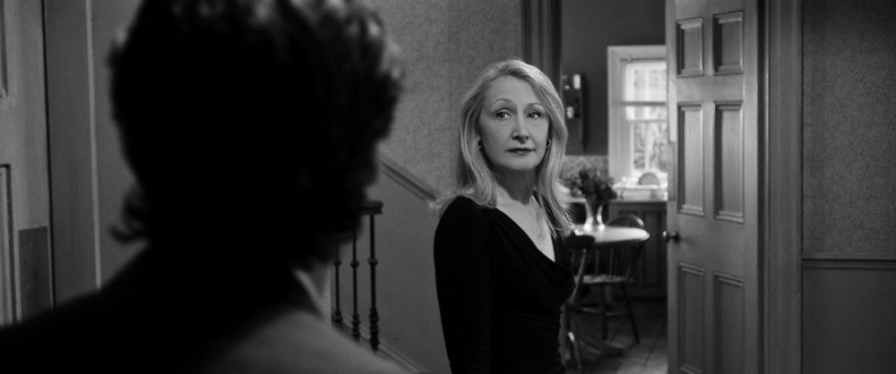 Patricia Clarkson as ex-political activist April in Sally Potter's political satire The Party