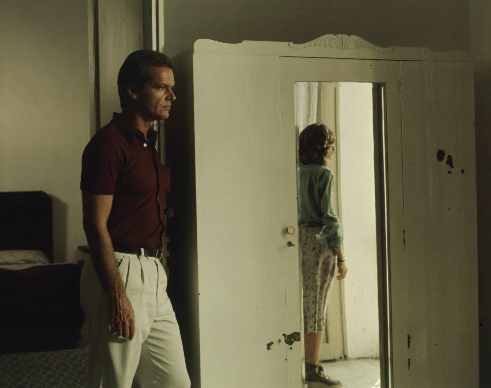 Jack Nicholson and Maria Schneider in Michelangelo Antonioni's The Passenger (1975), co-written by Peter Wollen