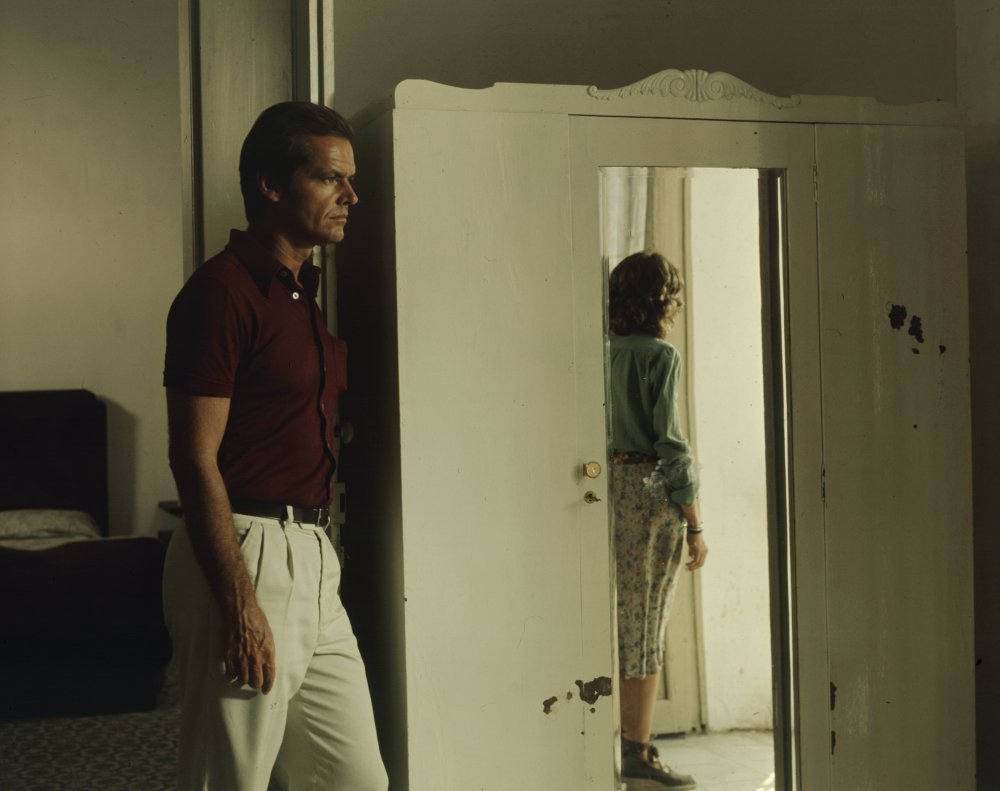 Jack Nicholson and Maria Schneider in Michelangelo Antonioni's The Passenger (1975), co-written by Peter Wollen