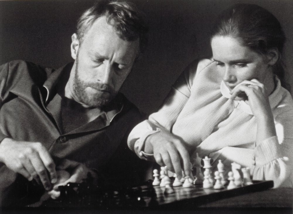 With Liv Ullmann in A Passion