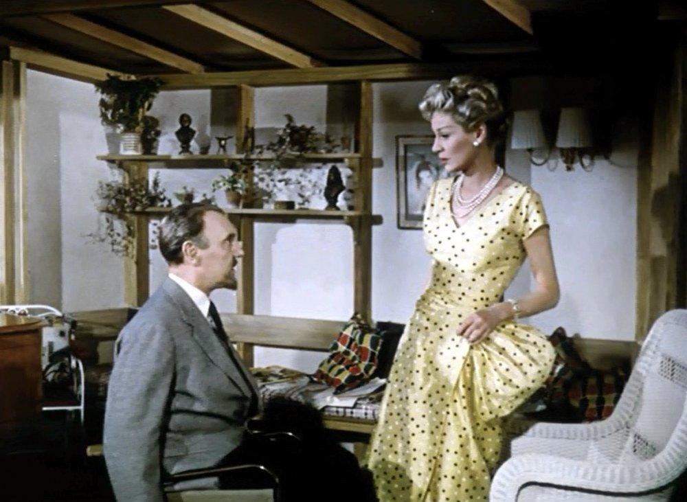 Ralph Richardson and Margaret Leighton in The Passionate Stranger (1957)