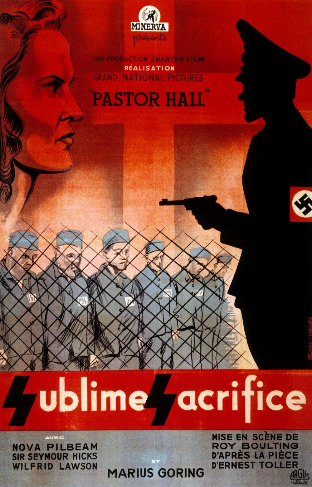 French poster for Pastor Hall (1941)