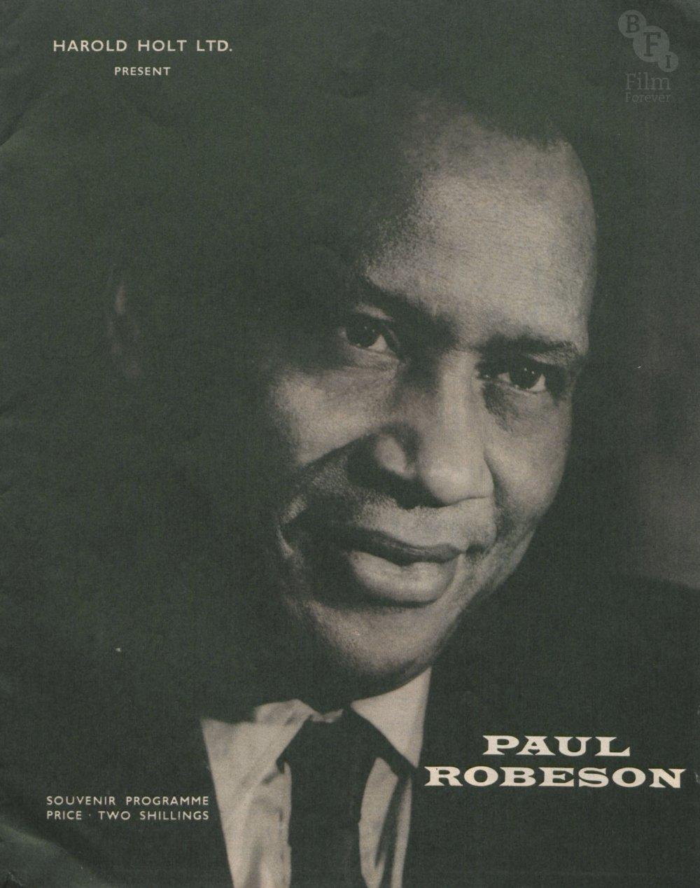 Souvenir brochure for a Paul Robeson concert tour, c.1958