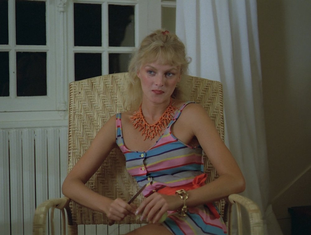 1983's Pauline at the Beach is full of memorable beachwear and lounging outfits, with the teenage Pauline's older cousin Marion (Arielle Dombasle again) looking stunning in every scene