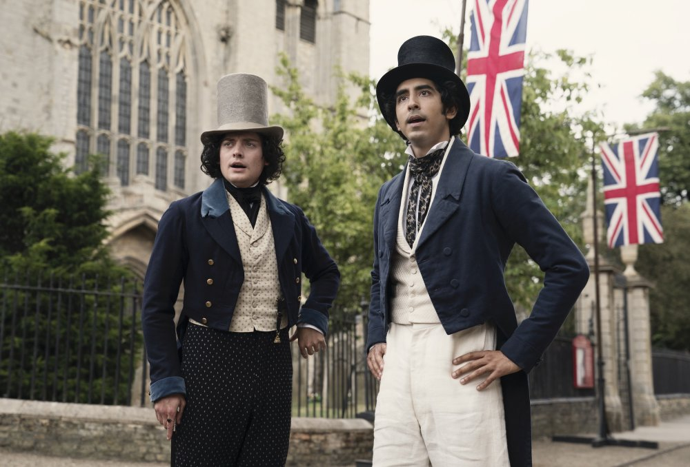 Aneurin Barnard as Steerforth with Dev Patel