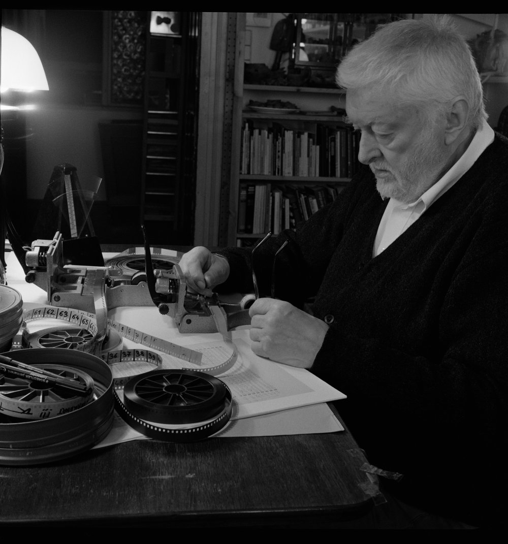 Peter Kubelka working on Antiphon (2012)