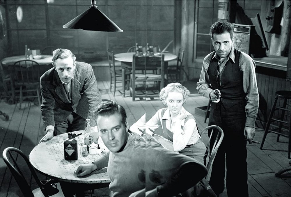 Bogart (right) with Leslie Howard, Bette Davis and Porter Hall in The Petrified Forest (1936)