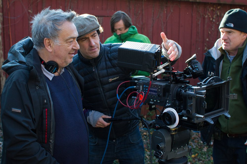 Stephen Frears on location for Philomena (2013)