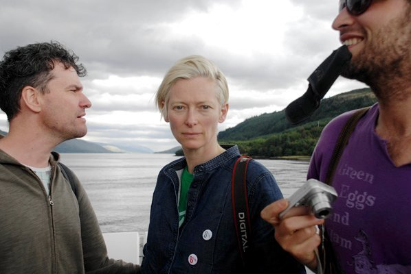 Mark Cousins, Tilda Swinton and friend