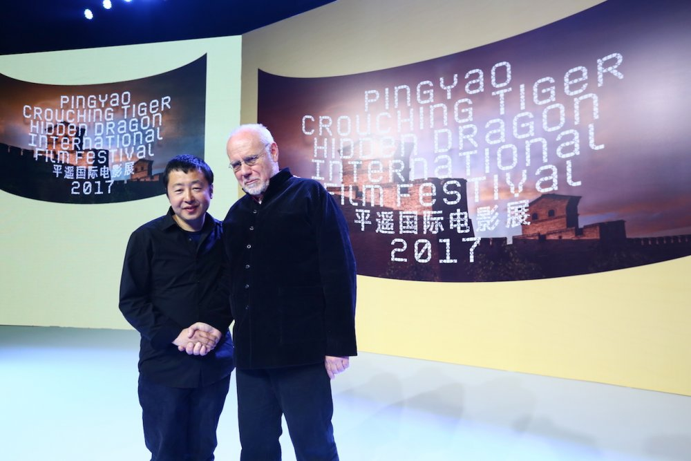Founder Jia Zhangke and artistic director Marco Mueller at the Pingyao International Film Festival