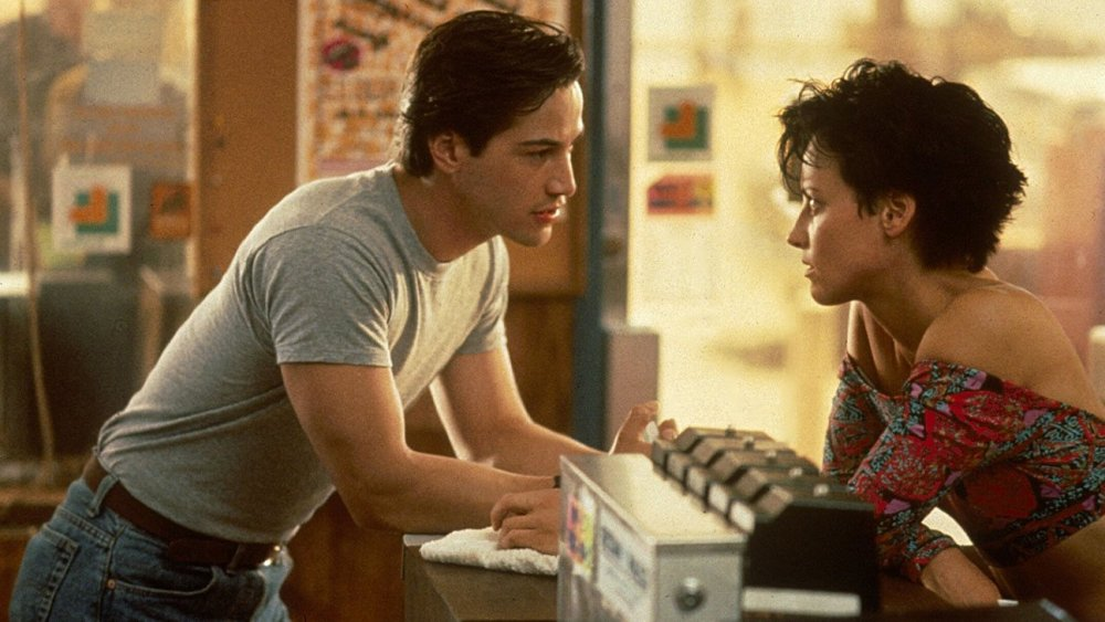Reeves and Lori Petty as Tyler in Point Break