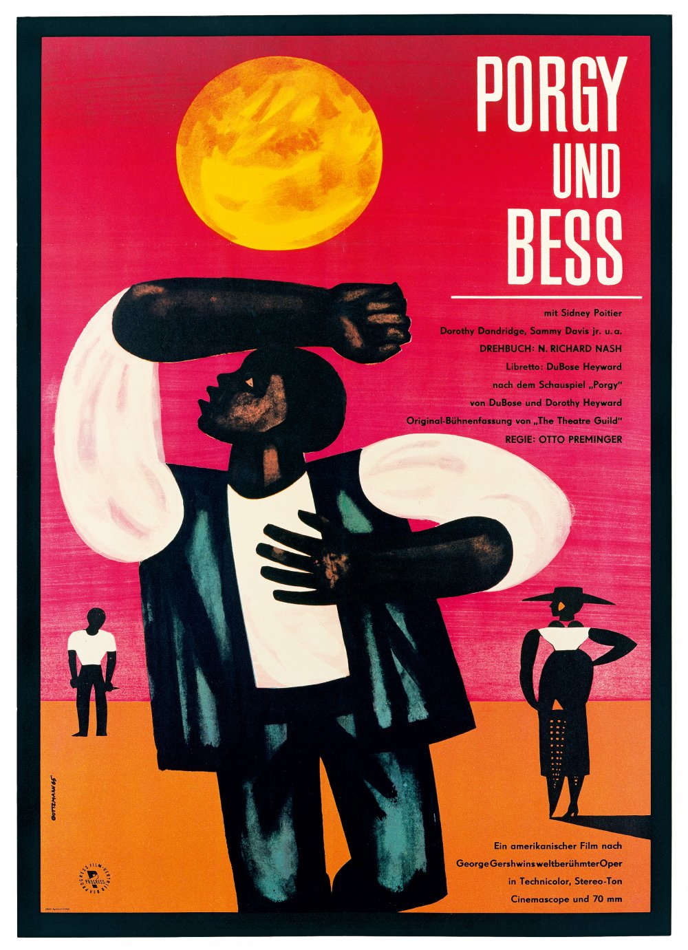 The East German poster for Porgy and Bess (1959)